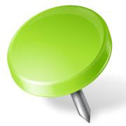 Map-Marker-Drawing-Pin-Left-Chartreuse-icon