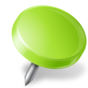 Map-Marker-Drawing-Pin-Right-Chartreuse-icon